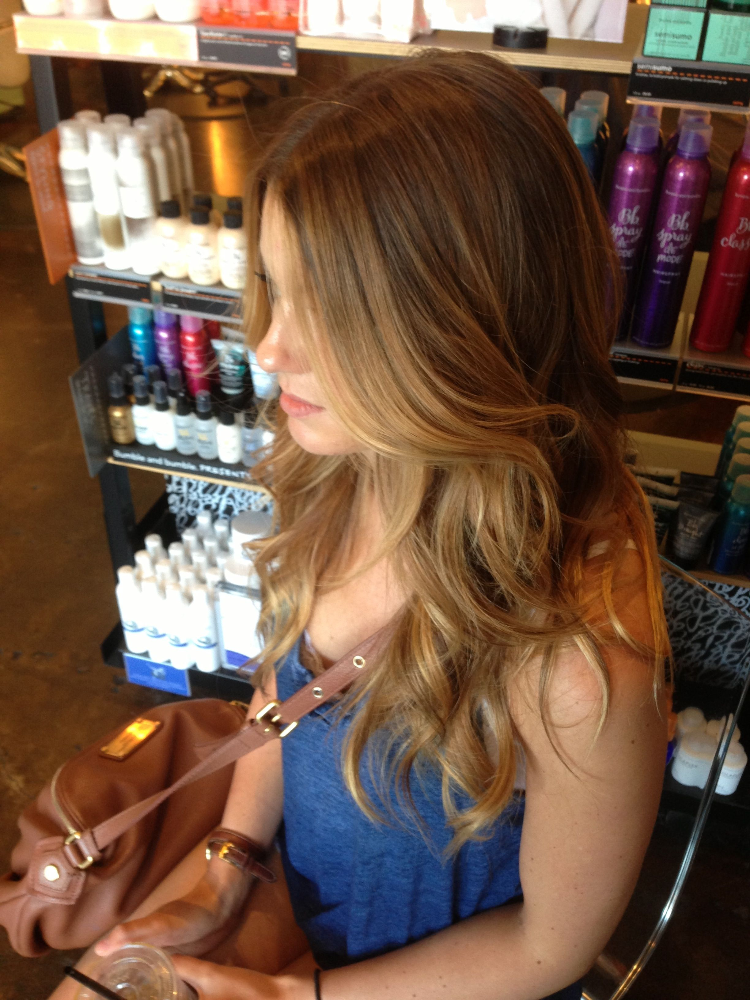 Andreamillerhair Balayage Hair Painting Golden Blonde Sun