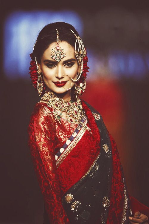 Pakistani wedding couture modeled by Mehreen Syed.