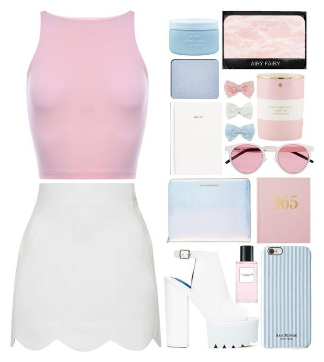 """""""oshanna"""" by veronicaox ❤ liked on Polyvore featuring Jeffrey Campbell, Marc Jacobs, Illesteva, Topshop, Marc by Marc Jacobs, Isaac Mizrahi, H&M, Kate Spade, Decree and shu uemura"""