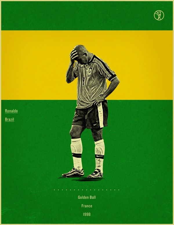 Retro Style Poster Series Of The World Cup Golden Ball Winners World Cup Football Marketing Fifa World Cup