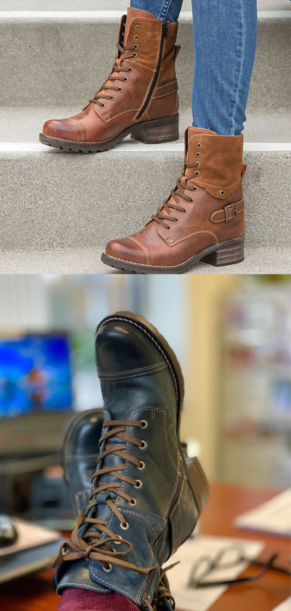 ee91f1bc7c77 Beautiful boots for problem feet by Taos. The Crave boot offers arch  support and generous cushioning. See our review.  boots  booties   comfortableboots