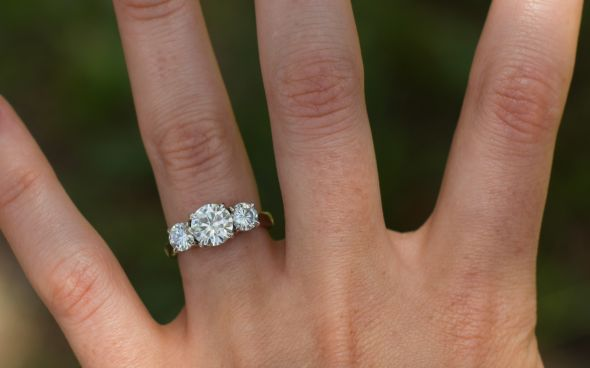 Found On Weddingbee Com Share Your Inspiration Today Three Stone Engagement Rings Diamond Wedding Bands Engagement Rings