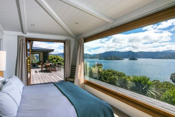 Award-winning architect Jimma Dillon died in December 2012 and the Marlborough Sounds home he built is up for sale.