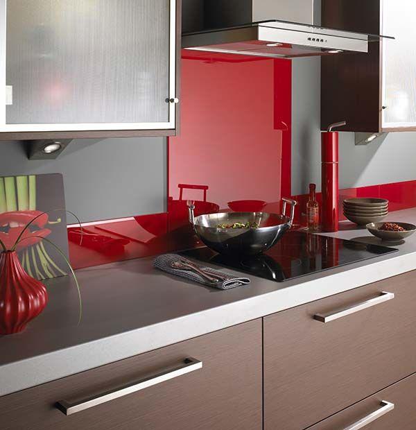 Good Lipstick Red Kitchen Glass Splashback