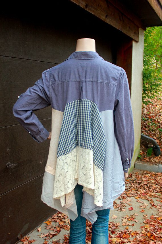Boho Shirt Junk Gypsy Style, Shabby Chic Romantic   Re ...