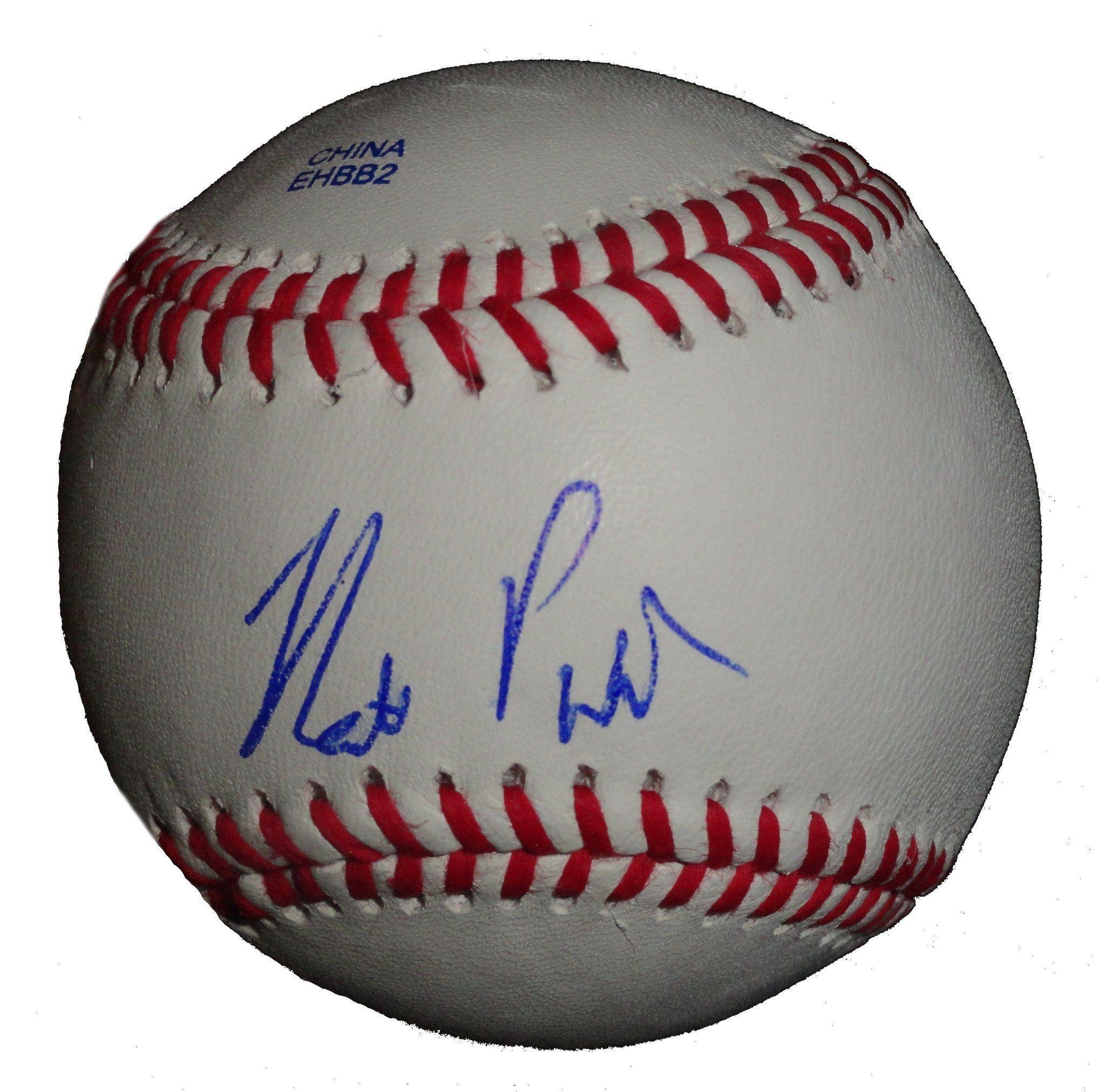 Matt Purke Autographed Rawlings Rolb1 Leather Baseball, Proof Photo
