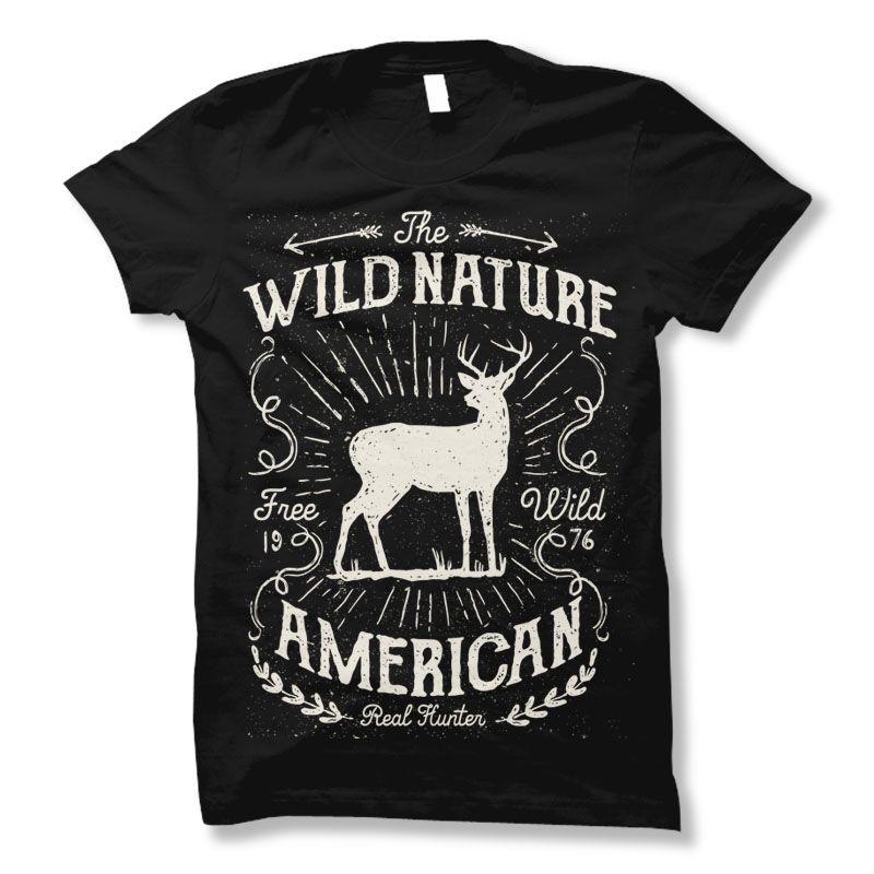 Wild Nature Tee shirt design | Tshirt-Factory