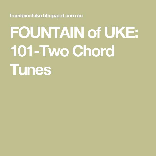 FOUNTAIN of UKE: 101-Two Chord Tunes