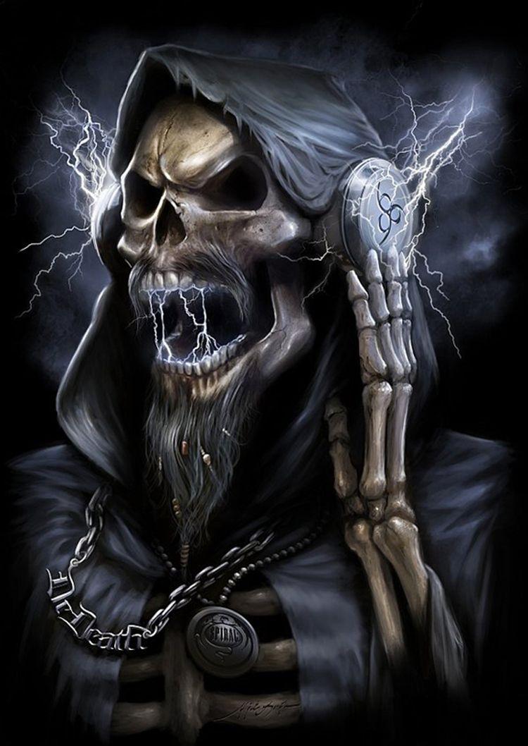 dark mythical illustration by yigit koroglu reaper madness 2 pinterest totenk pfe. Black Bedroom Furniture Sets. Home Design Ideas
