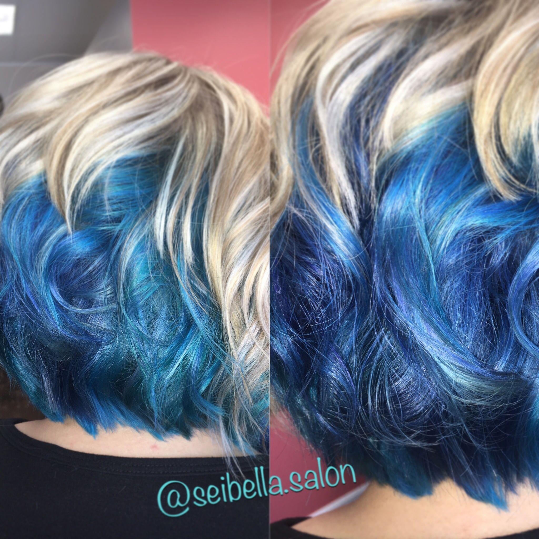 Blue Underlights @jesykaleigh #joico #paulmitchell