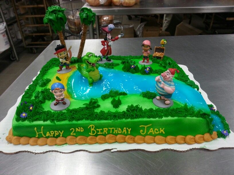 Jake And The Neverland Pirates Cake Front View Farm Cake