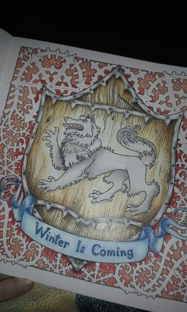Game Of Thrones Adult Coloring Book Winter Is Coming House Stark