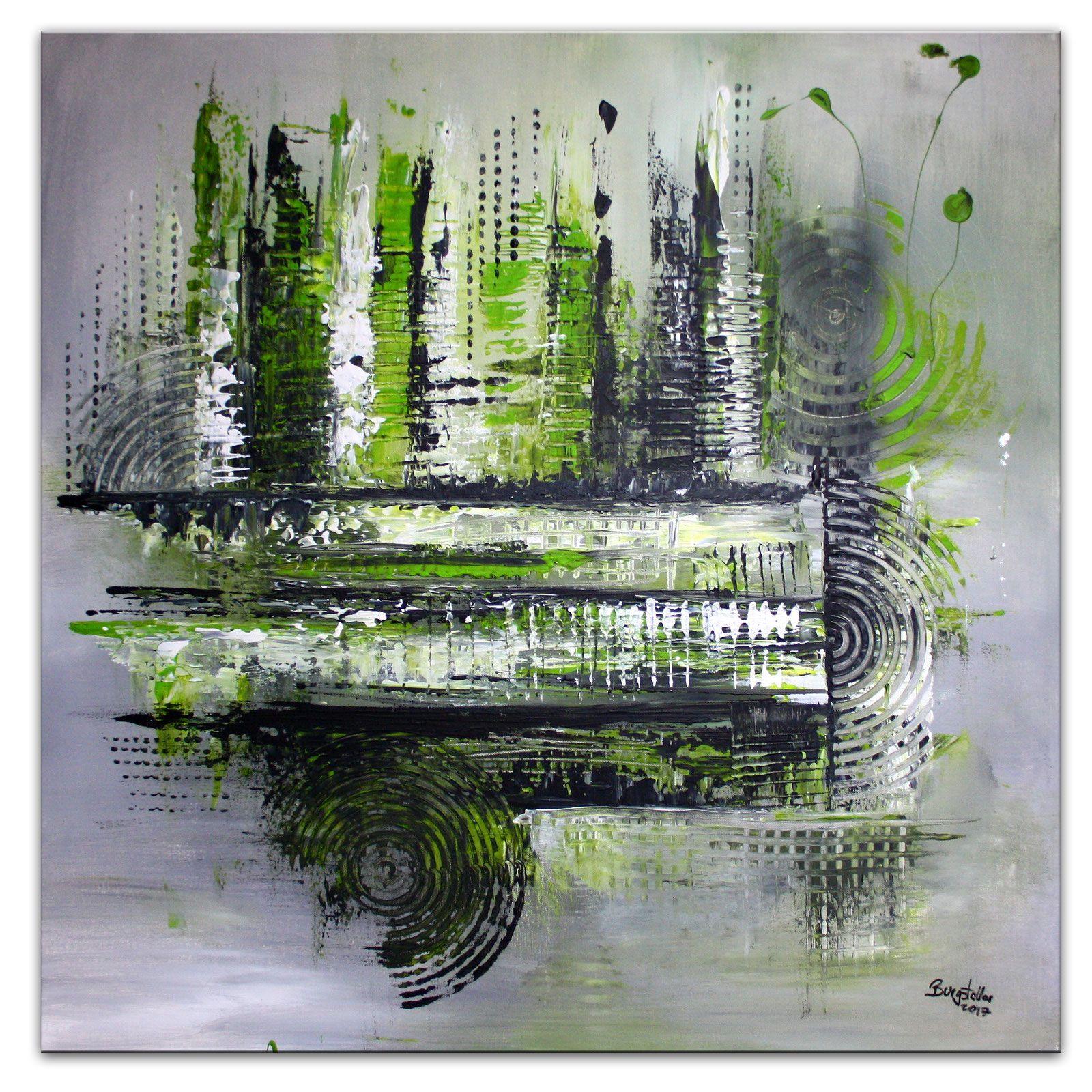 nature 2 abstrakte malerei original bild grun kaufen abstrakt diy bilder malen einfach kunst meer