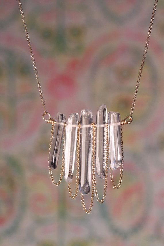 how to make raw crystal pendant neckalces