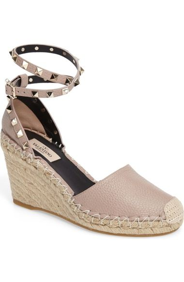 18a8d3b2e1d VALENTINO Rockstud Espadrille Wedge (Women).  valentino  shoes ...