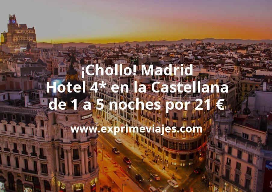 Chollo Madrid Hotel 4 En La Castellana De 1 A 5 Noches Por 21