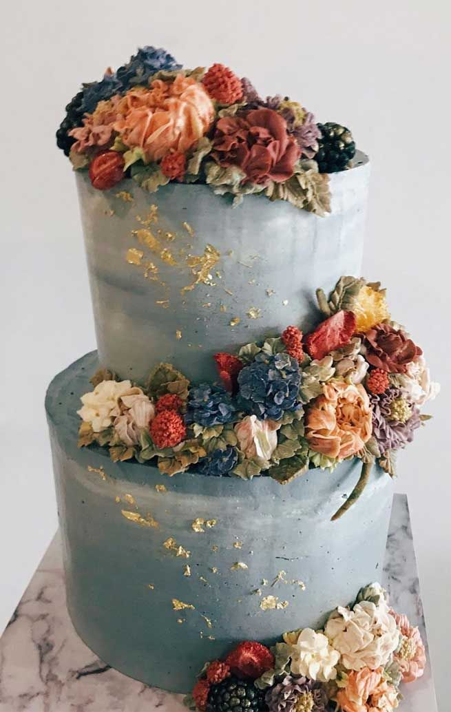The Prettiest Unique Wedding Cakes We Ve Ever Seen In 2020 Painted Wedding Cake Fashion Cakes Floral Cake