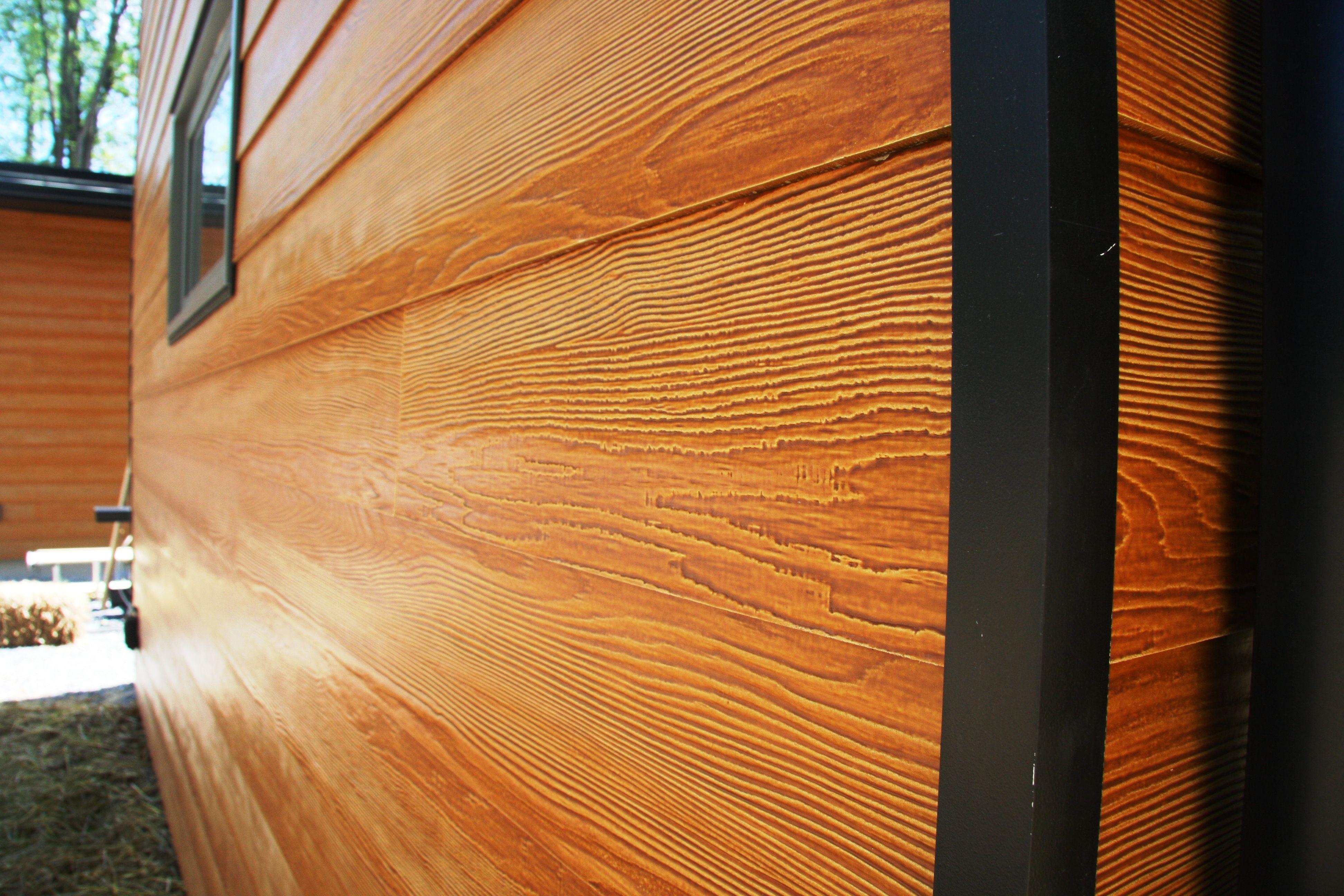 Certainteed fiber cement siding closeup view cedar or for Stained fiber cement siding