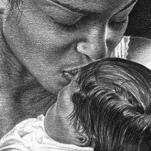 John Nelson Pencil Drawings, realistic renderings of children