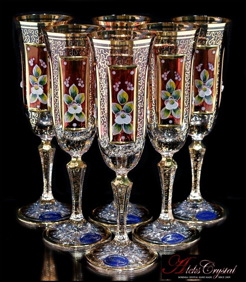 Hand Made Bohemia Crystal In The Czech Republic Bohemia Crystal Antique Glass Crystal Glassware