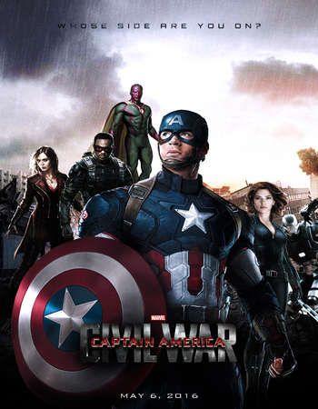 Poster Of Captain America Civil War 2016 Dual Audio 720p HDTC ...