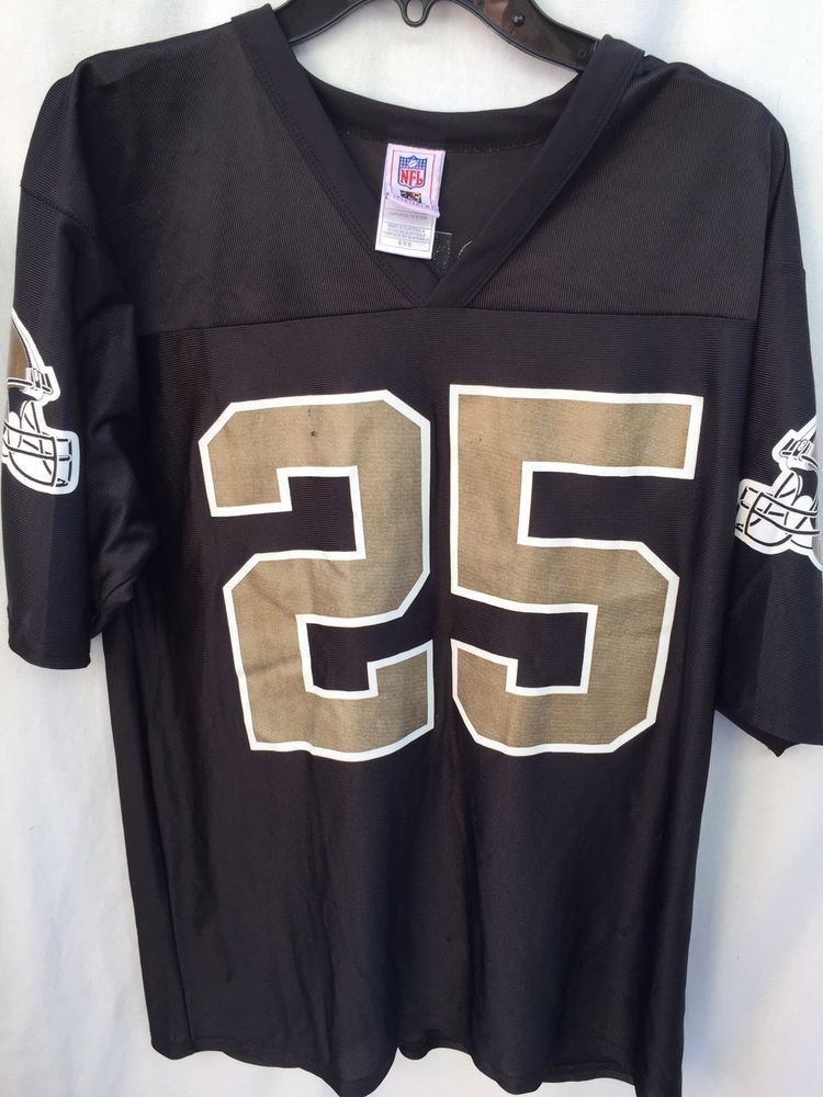 buy popular b575b c94e4 NFL Players Jersey Reggie Bush 25 New Orleans Saints Sz M ...