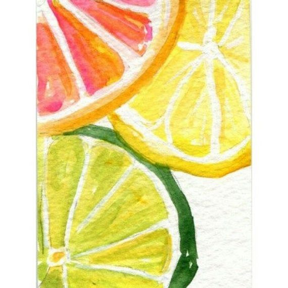 Diamond painting kit CITRUS FRESH WD281 | Etsy