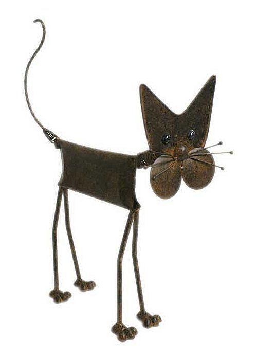 U003cpu003e U003cstrongu003eMetal Cat Garden Ornament / Statueu003c/strongu003e