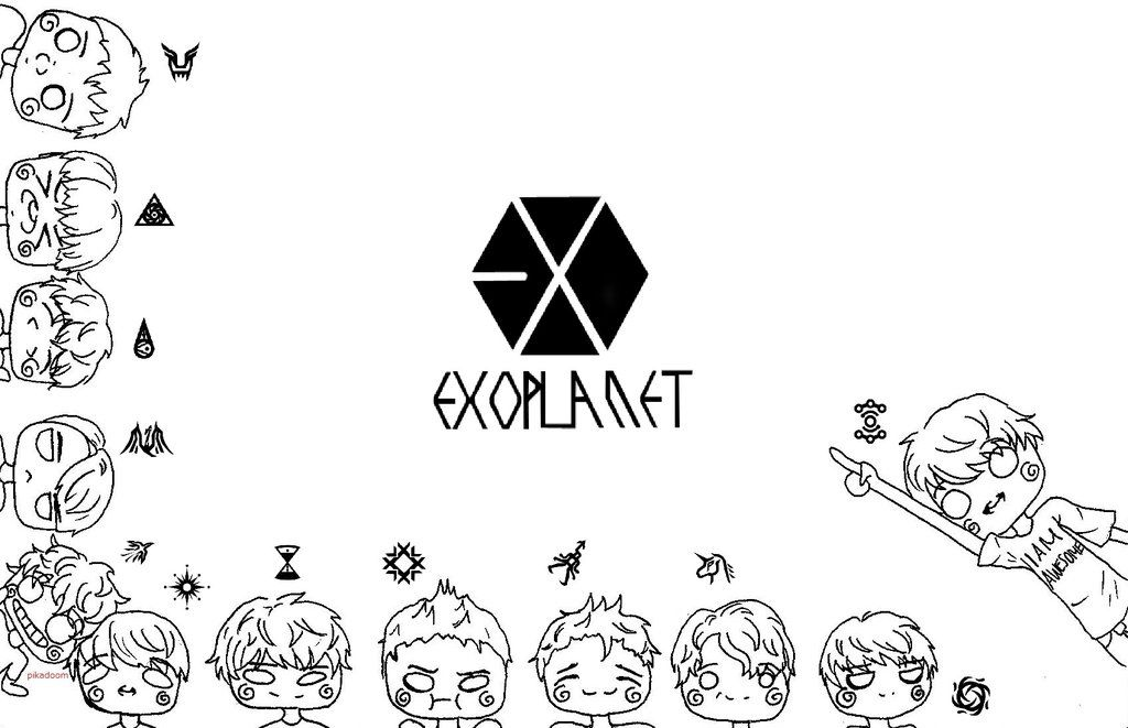 Chibi Exo Coloring Page By Sketch Pan On Deviantart Chibi Coloring Pages Exo Chibi Coloring Pages