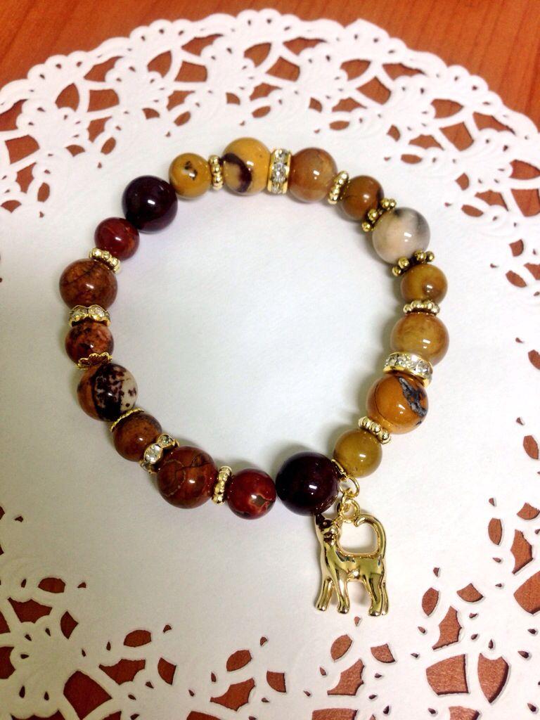 Jasper beads bracelet Beaded bracelets, Bracelets, Jewelry