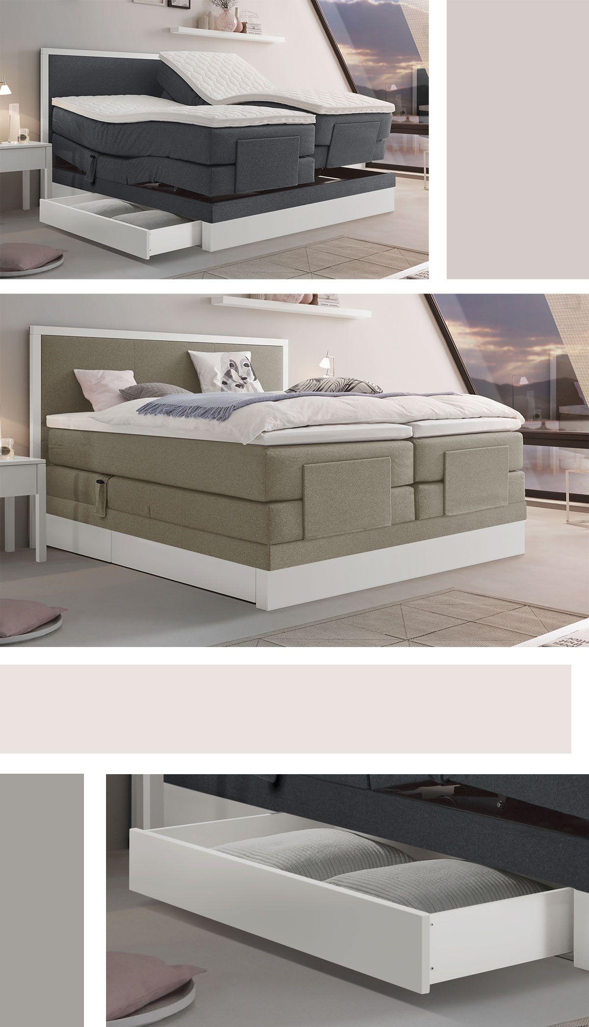 Luxus Boxspringbett Mit Sachter, Elektrischer Verstellung. Extravaganter  Komfort Für Ihr Schlafzimmer. #