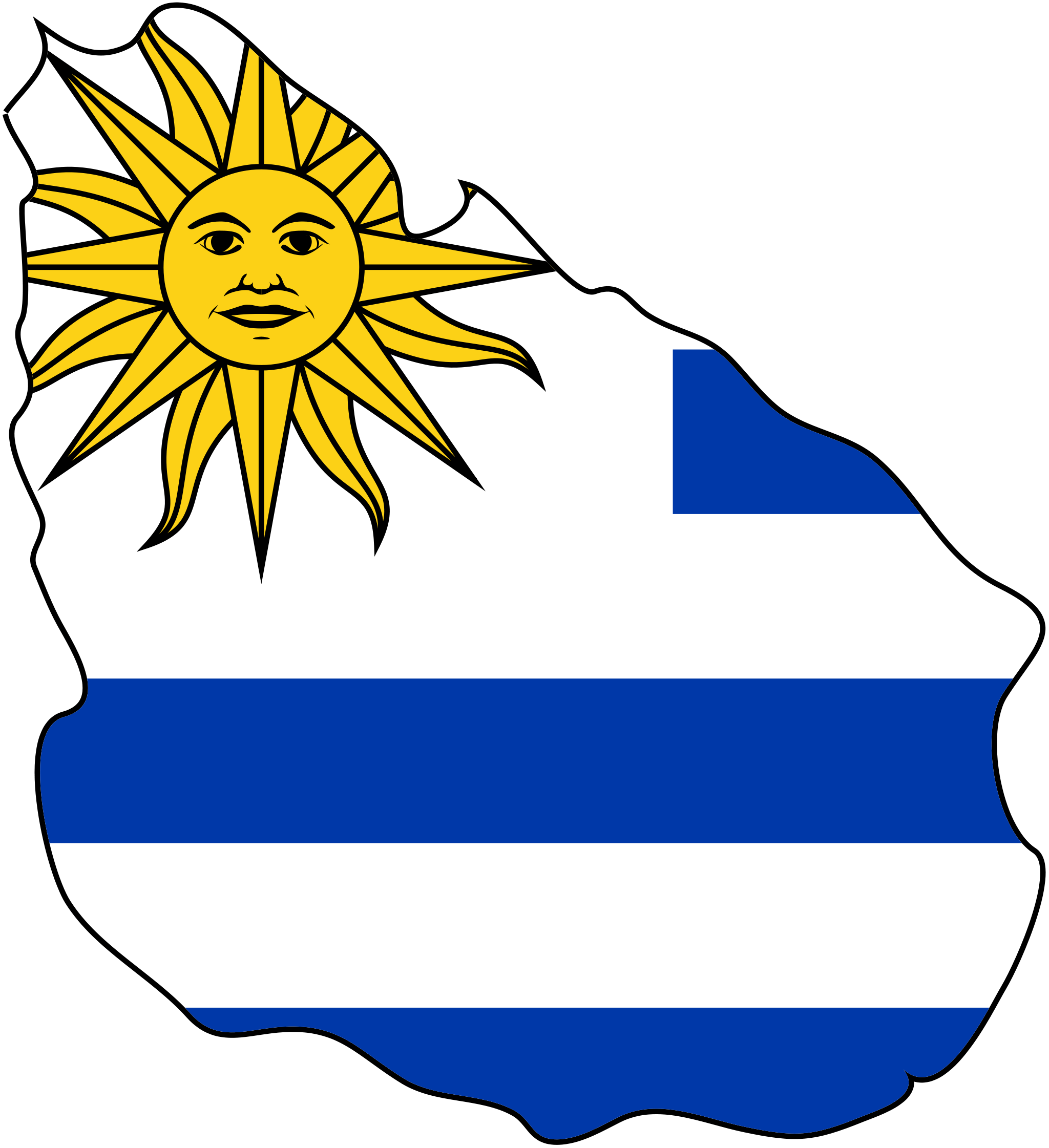 Uruguay Flag Map Mapsofnet Uruguay My LDS Mission Country - Uruguay map png
