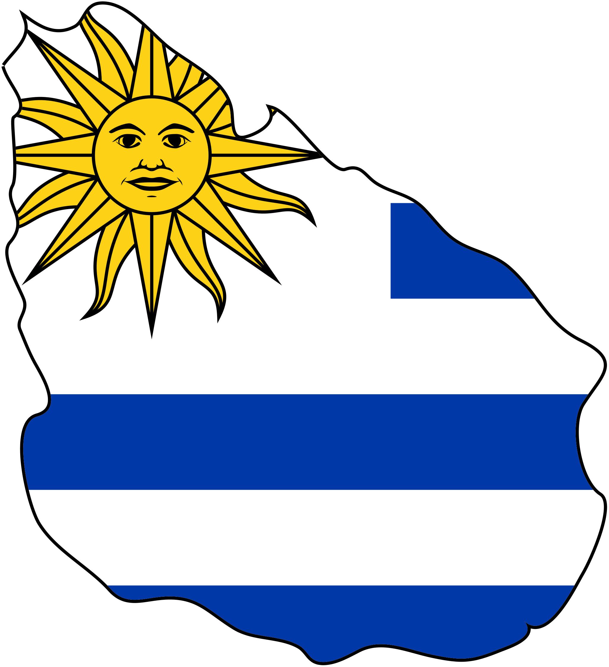 Uruguay Flag Map Uruguay Flag Uruguay Map Flag