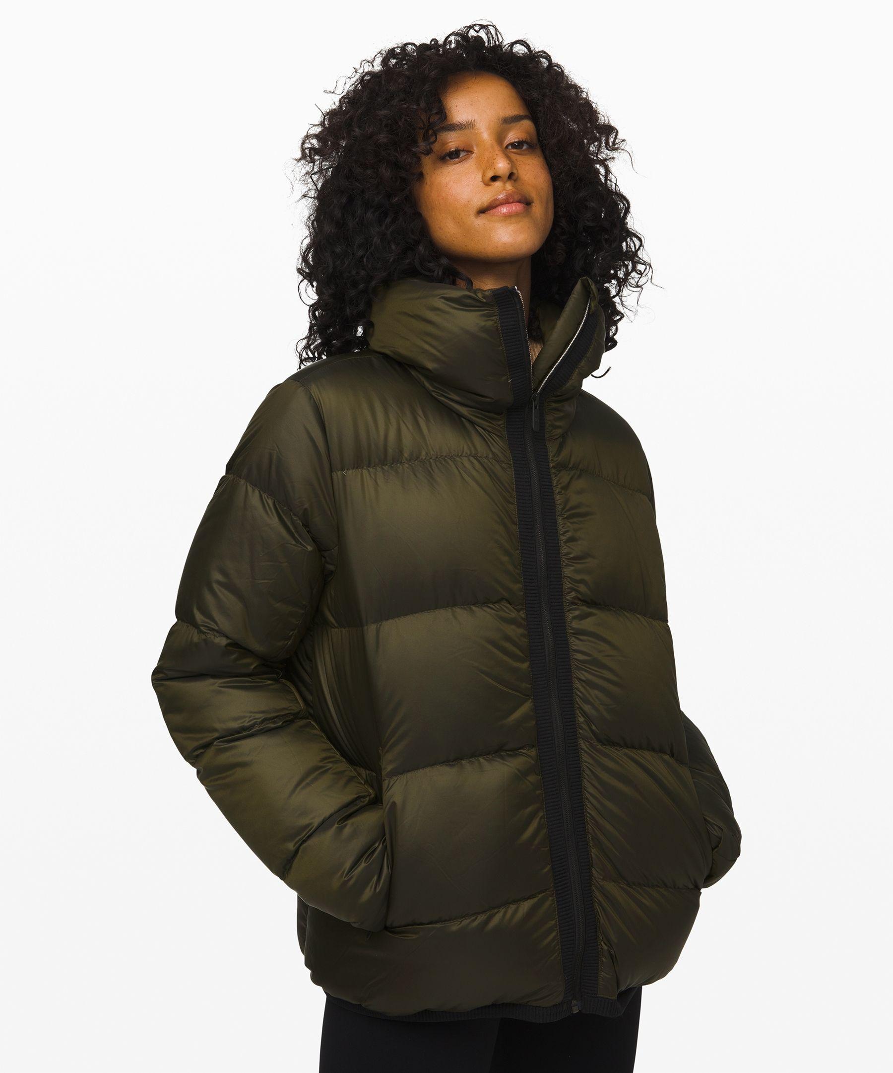 Lululemon Women S Cloudscape Jacket Dark Olive Size 4 Jackets How To Wear Ankle Boots Jackets For Women [ 2161 x 1800 Pixel ]