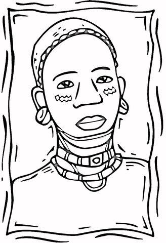 african-woman-coloring-page.jpg (328×480) | consciencia negra ...