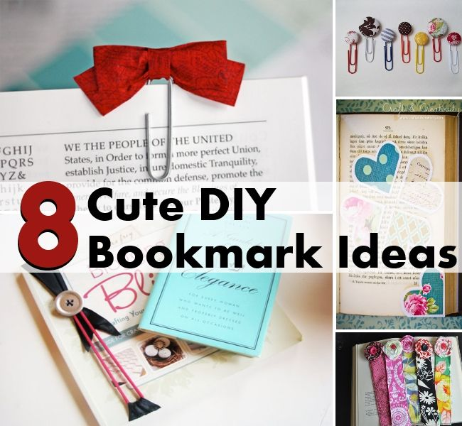 25 Creative Diy Bookmarks Ideas Awesome Home Images 14645 ... | Book ...