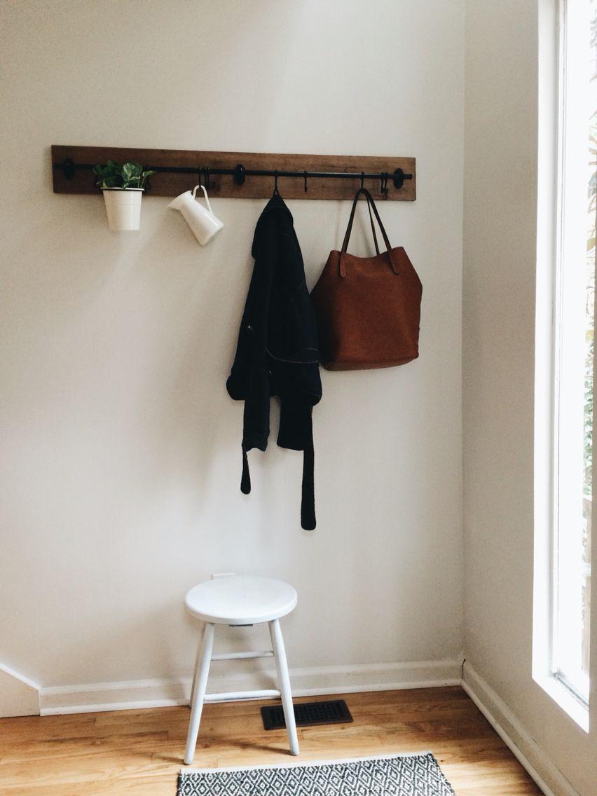 ikea fintorp hack two racks reclaimed wood u003d coat rack