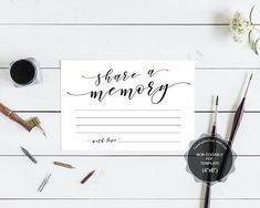 share a memory card template instant download printable pdf