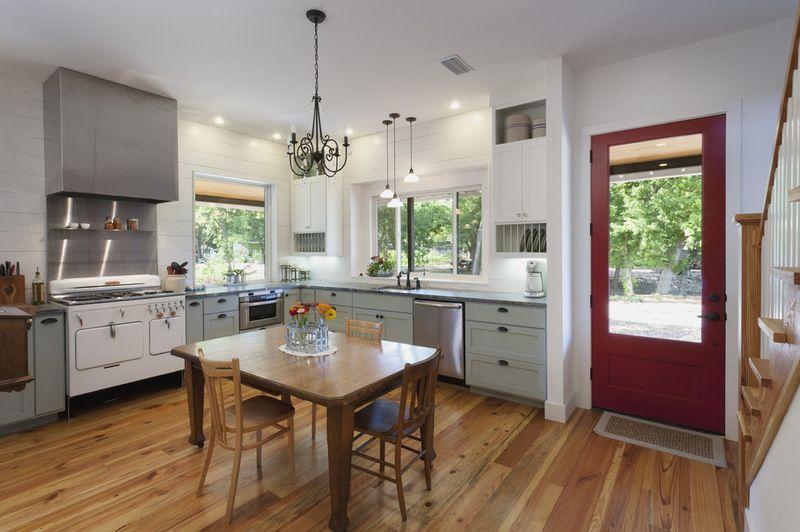 houzz tour a new texas farmhouse pulls a neat trick house design kitchen farmhouse kitchen on farmhouse kitchen hutch id=45330