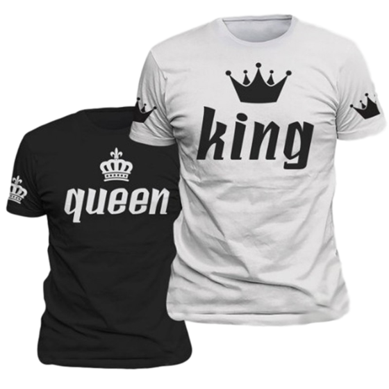 Queen & Her King Short Sleeve T-Shirts