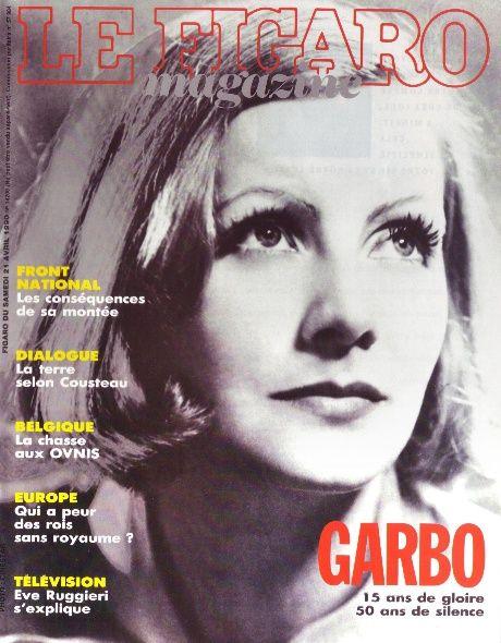 GRETA GARBO - LE FIGARO - 21 APR 1990*
