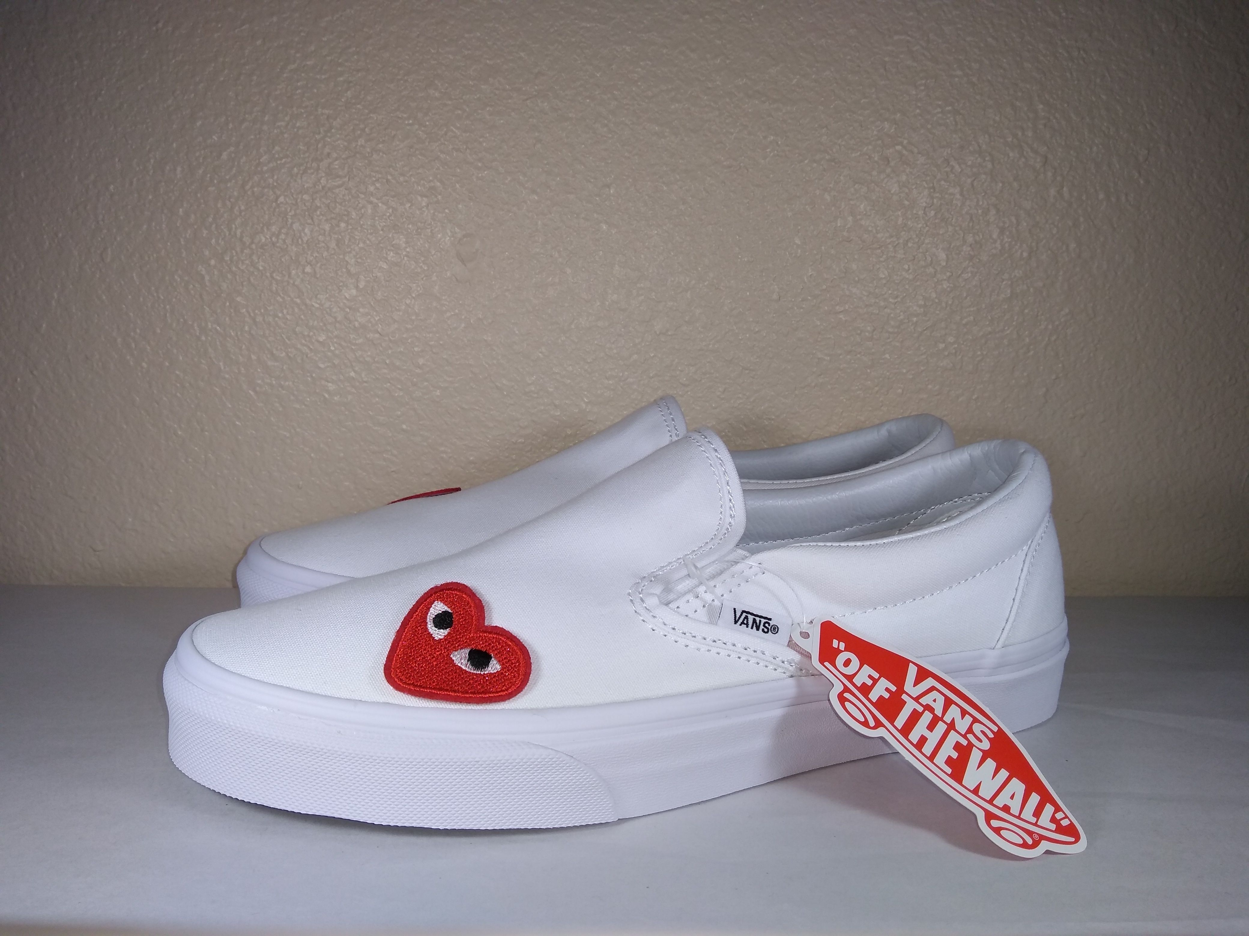 This is the Vans X CDG custom shoe by Kutsuh,Part of