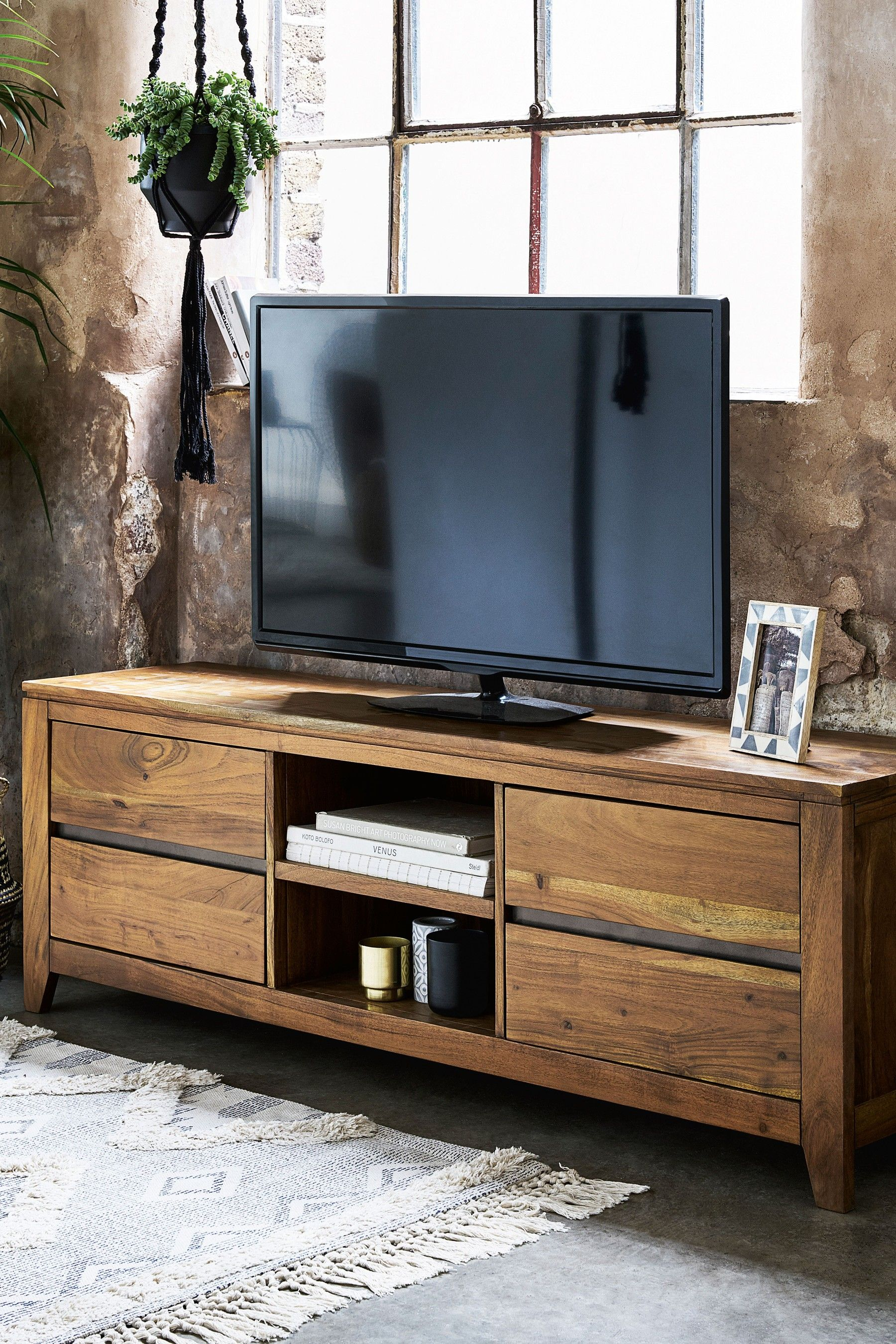 Next Amsterdam Wide Tv Stand Natural Wood Tv Unit Wooden Tv