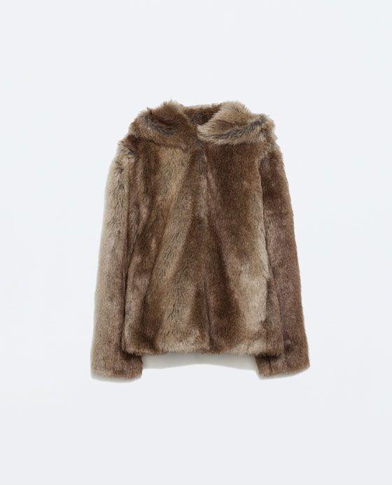 abrigo de pelo zara trf