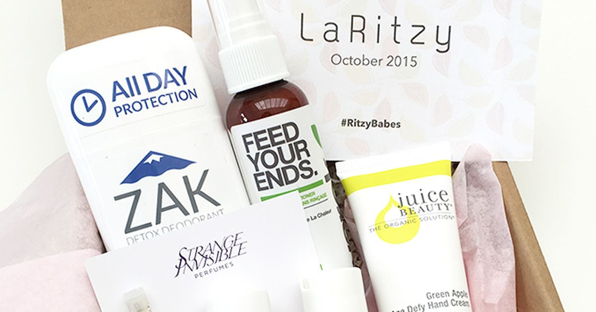 LaRitzy is a cruelty-free and vegan monthly subscription box.