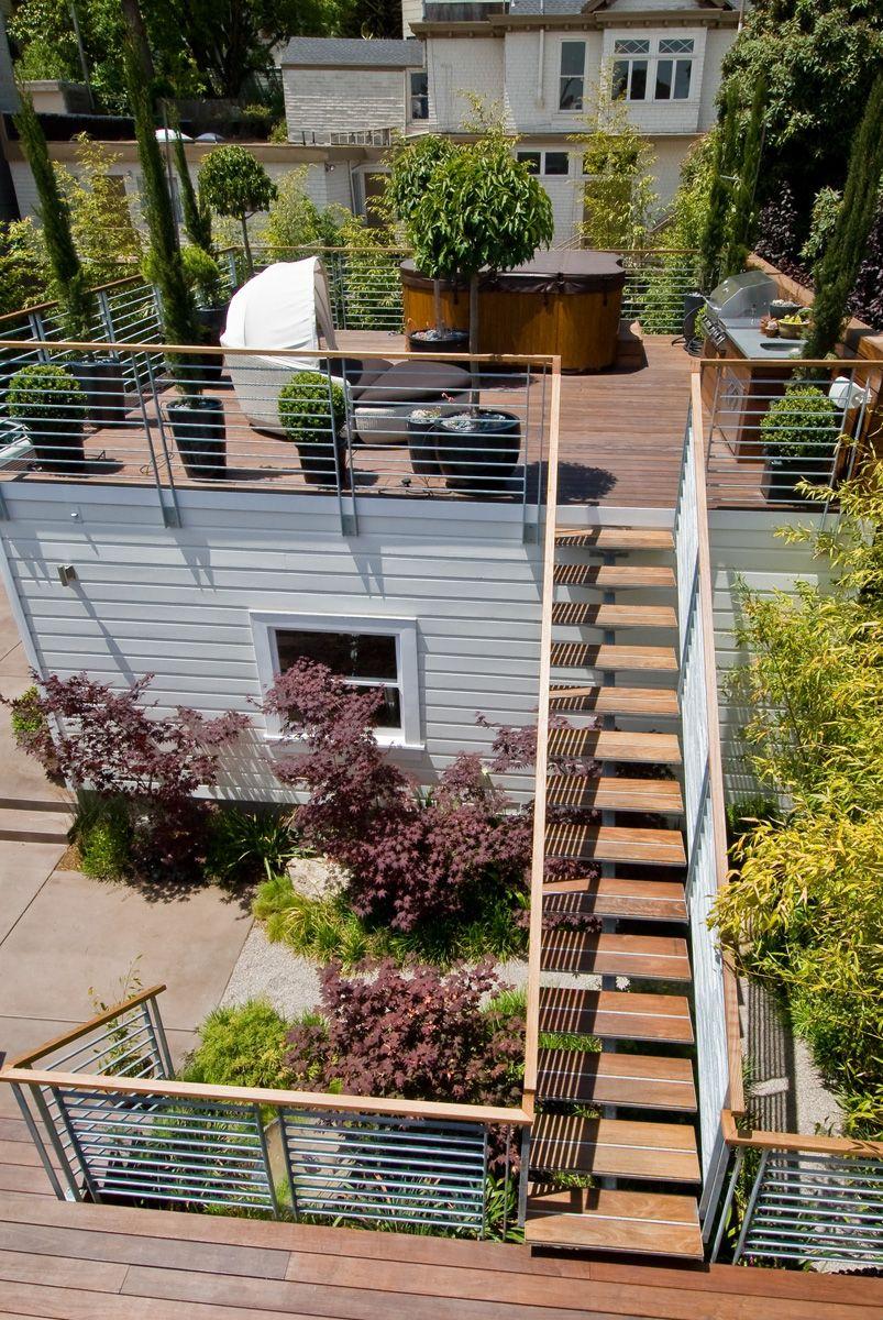 Custom designed backyard deck