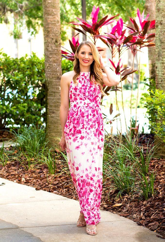 Vistana Resort Orlando Glamour-Zine wearing Eliza J Maxi Dress ...