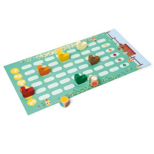 jeu de soci t la course aux poules oxybul pour enfant de 3 ans 6 ans oxybul veil et jeux. Black Bedroom Furniture Sets. Home Design Ideas