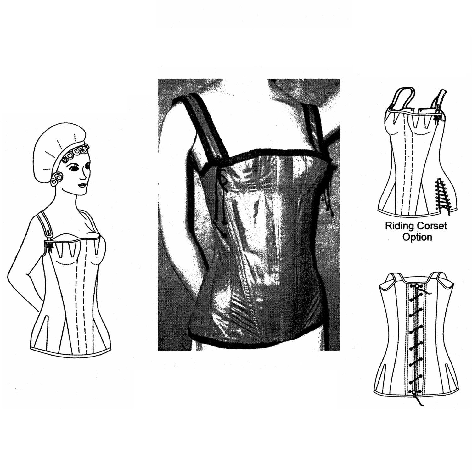 1315590d24e MM18103 - 1800 -1820 Regency Corset Pattern Sewing Pattern by Mantua Maker  by patternsoftime on