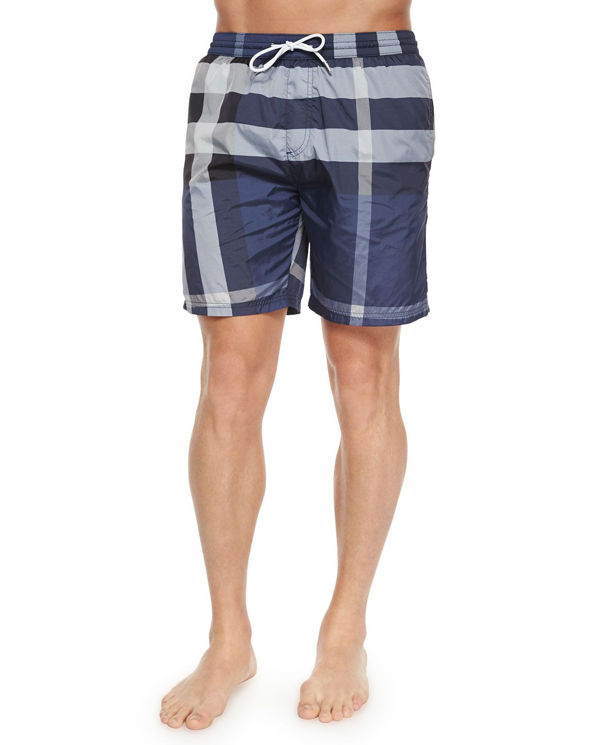 2665d22a4c Nylon Check Swim Shorts, Navy, Men's, Size: 3XL - Burberry Brit ...